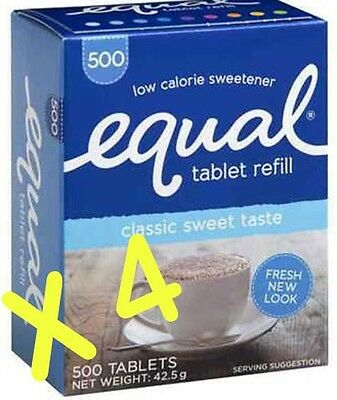 Equal tablet refills. 4 Boxes of 500 tabs per box (2000)