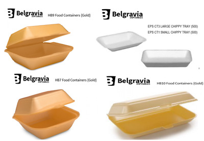 Disposable Food Containers 125 - 2000 {HB6,HB7,HB9,HB10 & CT1,CT3} Catering/Cafe