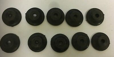 Maypole Trailer Tie Down Button Cleat Black MP995B Pack of 10