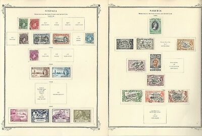 Niger Coast & Nigeria Collection on 3 Scott Specialty Pages, 1892-1953