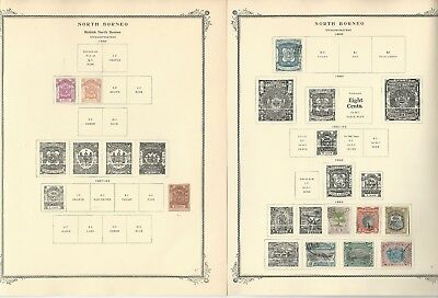 North Borneo & N. Rhodesia Collection on 11 Scott Specialty Pages