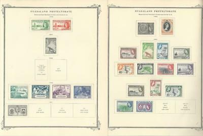 Nyasaland 1946-1953 on 2 Scott Specialty Pages, British Colony