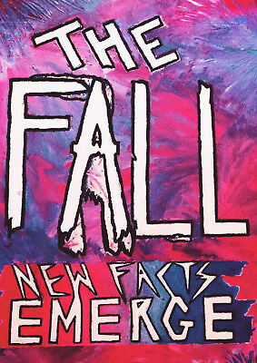 """Reproduction The Fall """"New Facts Emerge"""" Poster, Mark E Smith, Home Wall Art"""