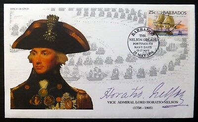 BARBADOS 1996 Nelson Decade Signed Limited Edition Cover NC1752