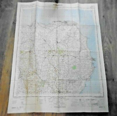 """Ordnance Survey 1"""" to 1 mile Ministry of Defence Map Peterhead 1958 Sheet 31"""