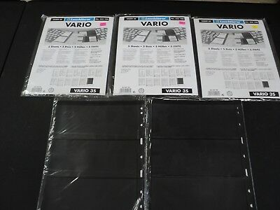 25 (5 Packs of 5) Leuchtturm VARIO SS Stock Pages Black Background Lighthouse