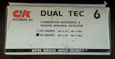 C&K DT 660 STC  Dual Tec Combination Microwave & Passive Infrared Detector NEW