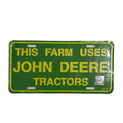 John Deere Green This Farm Uses License Plate- JD002254693