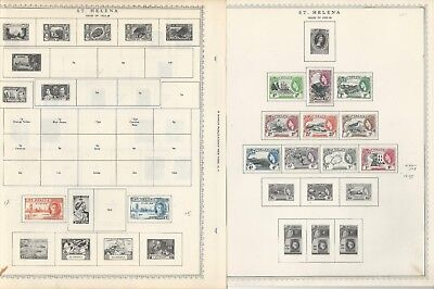 St Helena & St. Kitts Collection 1856 to 1963 on 6 Minkus Pages, Stamps