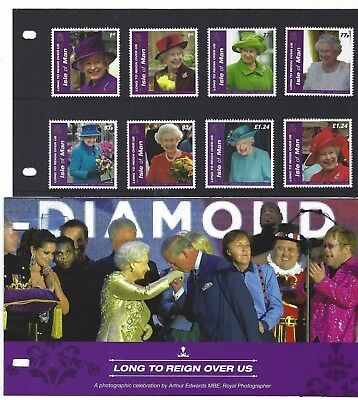 Isle Of Man 2016 Long To Reign Over Us Diamond Jubilee Presentation Pack