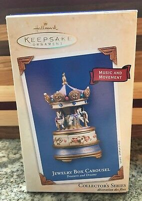 03 HALLMARK KEEPSAKE ORNAMENT JEWELRY BOX CAROUSEL SERIES 2 MUSIC with MOVEMENT