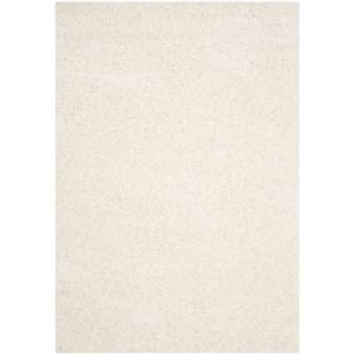Safavieh Athens Collection Plush 5 x 7 Foot Indoor Area Rug, White (Open Box)