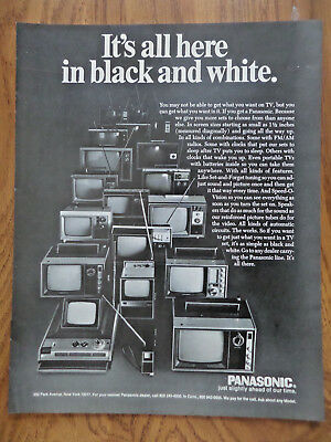 1969 Panasonic TV Television Ad It's all Here in Black & White