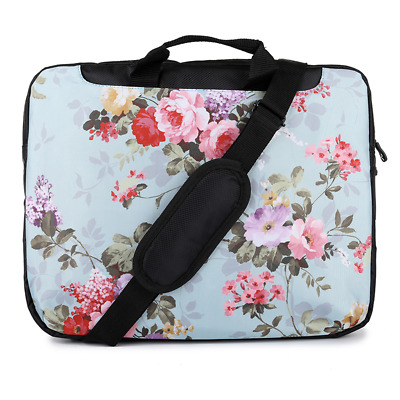 "TaylorHe 15.6"" Laptop Shoulder Bag With Handles Strap Vintage Beautiful Flowers"
