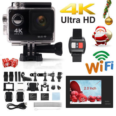 16MP WIFI 4K 2'' HD Sport DV Action Helmet Camera Waterproof With Remote Control