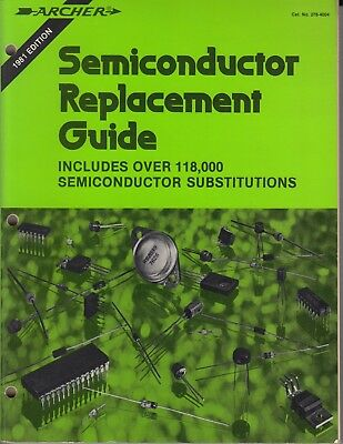 1981 Archer Radio Shack Semiconductor Replacement Guide 276-4004 Book / m5