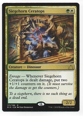Foil R Rivals of Ixalan Magic Mtg 4x NM-Mint English Foil Siegehorn Ceratops