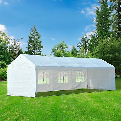 10' x 30' Gazebo Party Tent Wedding Pop Up Tent with Removable Sidewalls White