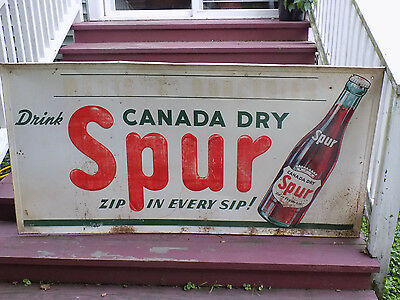 Large Drink Canada Dry Spur Soda Metal Sign