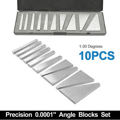 10Pcs Angle Block Set Machinist Milling Precision Ground 1-30 Degree US