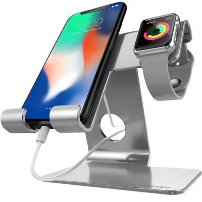 ZVE Universal 2 in 1 Cell Phone Stand And Tablet Stand,Aluminium Apple Iwatch 7