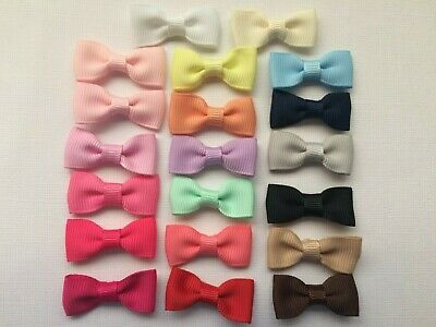 BB RIBBON PETITE BOWS 32mm pk of 20 grosgrain choice of colours great for clips