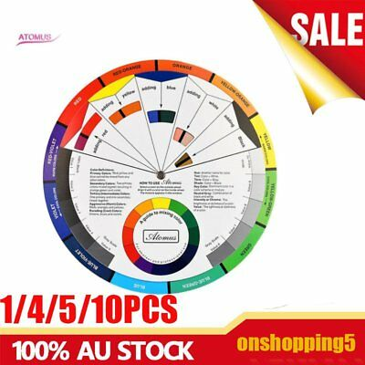 1/4/5/10PCS Artists Color Wheel Mixing Guide 23.5cm Diameter  EC