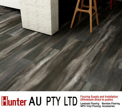 12MM AC4 Laminate Flooring Sample-Long Click Lock Floorbroads-Charcoal Oak
