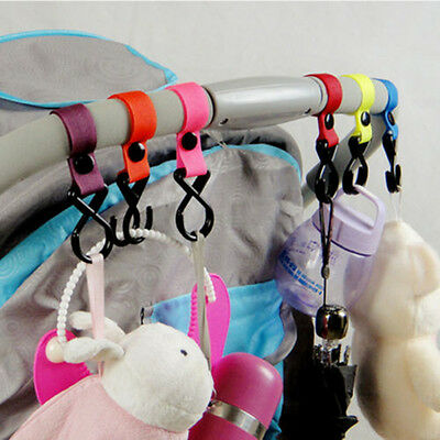2Pcs*Buggy Clip Pram Pushchair Stroller Side Hook Baby Handle Shopping Bag HOT
