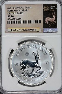 2017 Krugerrand South Africa 1 Rand NGC SP 70 First Releases 50th Anniversary