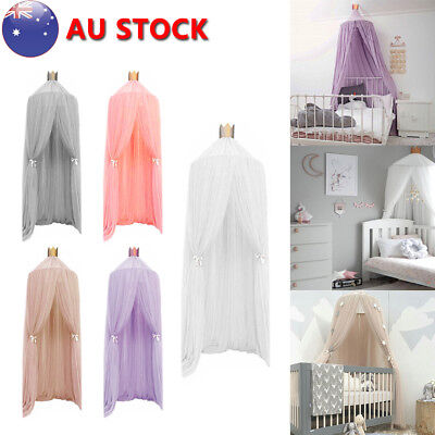 Kids Baby Bed Canopy Bedcover Mosquito Net Curtain Bedding Dome Tent Cotton New!