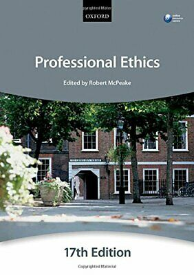 Professional Ethics (Blackstone Bar Manual) by The City Law School Book The