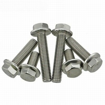 M5 M6 M8 M10 304 Stainless Steel Flanged Hex Head Bolts Flange Hexagon Screws