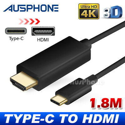USB-C to HDMI Cable Type C to HDMI 4K Cord For Samsung S10 S8 S9 Plus Note 9
