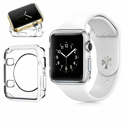 For Apple Watch Series 3 Case Iphone Watch 3 Soft Clear TPU Cover Anti Watermark