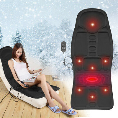 Electric Massage Seat Cushion Car Heated Back Body Massager Chair Cover Mat Home