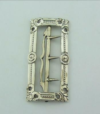 ANTIQUE GEORGIAN SOLID  SILVER BUCKLE 	John  Faux & George Love C1770