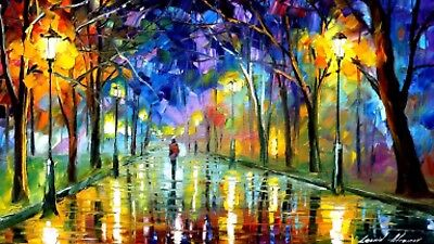 """STUNNING LADY IN THE PARK OIL PAINTING CANVAS PICTURE WALL ART LARGE 20x30"""""""