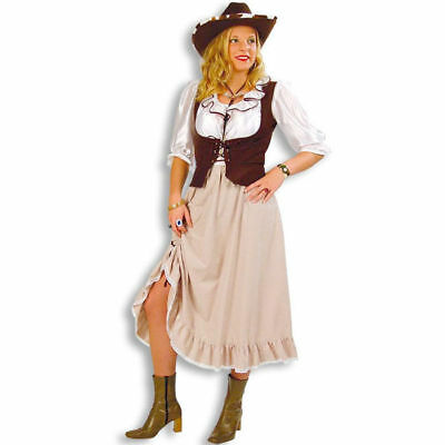 Damen-Kostüm Western-Lady Saloon Country Girl Westernparty Cowgirlkostüm