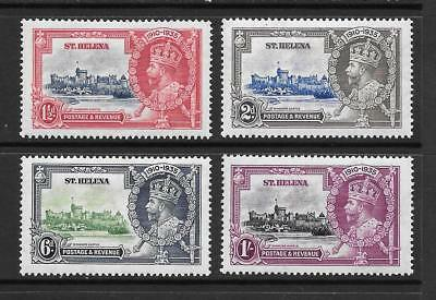 1935 King George V SG124 to SG127 Silver Jubilee Set Mint Hinged ST HELENA