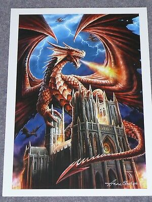 Dragons Fury Poster ( Signed by Anne Stokes )