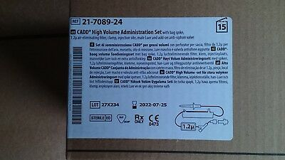 Km 15x Deltec CADD Infusionsset 21-7089-24 High Volume Administration Set
