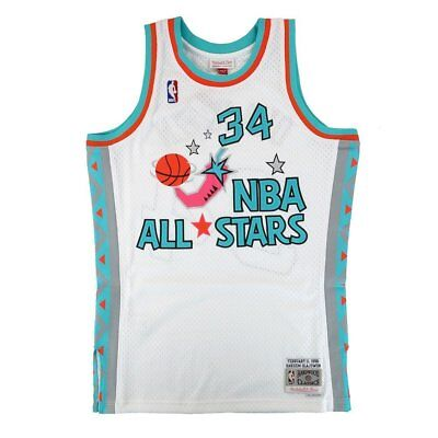 Hakeem Olajuwon Rockets Mitchell   Ness NBA 1996 All Star West Swingman  Jersey 649e3b9d4