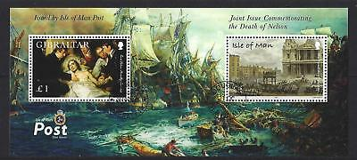 Isle Of Man 2005 Death Of Nelson Joint Issue With Gibraltar Fine Used