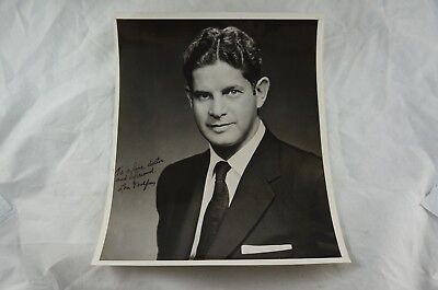 Rare signed photo: Louis Wolfson - Corporate raider, Wall Street, Horse Racing