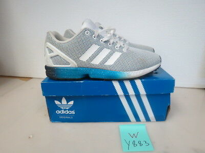 low priced 9254a 518b4 Mens Adidas Zx Flux Blue And White Shoes Size 9M Y883W