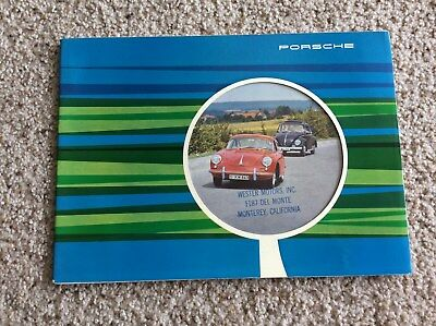 1962 Porsche  356 original dealership showroom deluxe color sales catalogue