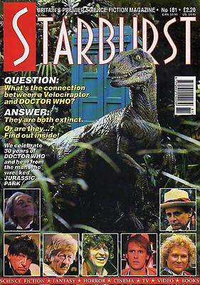 Starburst - Dr Who 30 Years, Jurassic Park, Deep Sapce Nine - 1993 - Issue 181