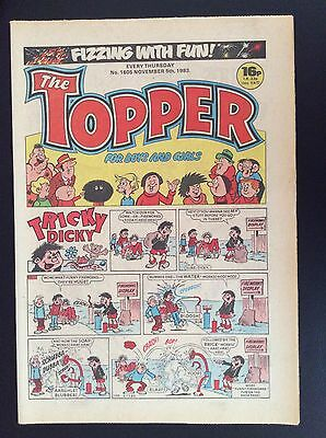 THE TOPPER. NO. 1605. NOVEMBER 5th.  1983.  FIZZING WITH FUN!  FIREWORK ISSUE.