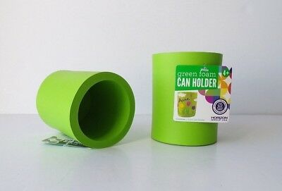 Green Foam Can Holders, SET OF 2 Plain Thick Koozie Coozie Cozy Craft Projects